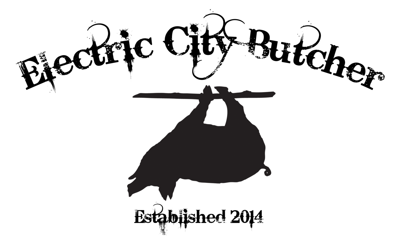 Electric City Butcher - Santa Logo