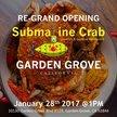 Submarine Crab - Garden Grove Logo