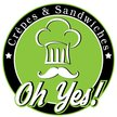 Oh yes !! Crepes & Sandwiches Logo