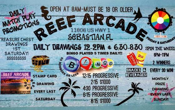 Reef Arcade - Sebastian Logo