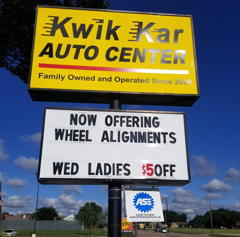 Kwik Kar Auto Center  Garland Logo